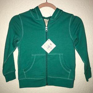 Hanna Andersson Sweatshirt BNWT Sz 5 Zip, Green